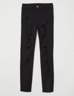 Джинси H&M Ж1056657 (06213811) колір чорний 5XL