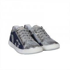 Кеди джинсові Naturino 31 Джинсовий, сріблястий 5269/2435