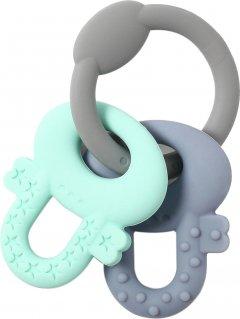 Прорезыватель для зубов BabyOno ортодонтический Мятный с серым (487) (00-00158673)