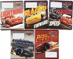 Набор тетрадей ученических 25 шт Тетрада Disney Cars. Holiday в косую линию 12 листов (5 дизайнов) (12056)