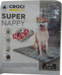 Пеленки для собак (принт газета) Croci 84 х 57 см 30 шт (8023222177222)