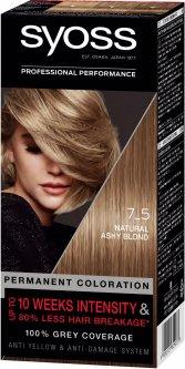Стойкая краска для волос Syoss 7-5 Пепельный русый 115 мл (9000101629033)