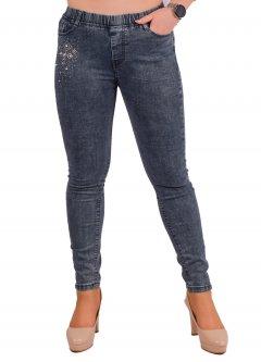 Стрейчеві джинси жіночі зі стразами Ластівка А1046-6-B. 29 Розмір 44-46