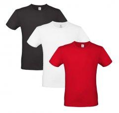 Базові футболки B&C 3 шт. Чорна/Біла/Зелена M