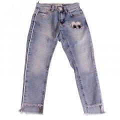Штани джинсові для дівчинки BREEZE ESC-1981-2 134 см блакитний (478106)