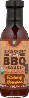 Органічний соус барбекю Triple Crown Organic BBQ Hickory Bourbon з насичено-пікантним смаком 250 г (607353982405)