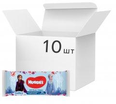 Упаковка влажных салфеток Huggies Frozen OverClean 10 х 56 шт (5029054659564)