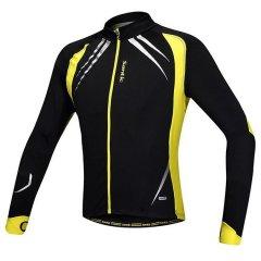 Велоджерси термо Santic Cycling Jacket чорно-жовта XL