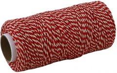 Шпагат Радосвіт хлопковый бело-красный, 630 текс, 100 метров (4820172932871)