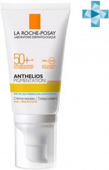 Солнцезащитный крем со светлым тонирующим эффектом для кожи лица La Roche-Posay Anthelios склонной к гиперпигментации с очень высокой степенью защиты SPF50 + 50 мл (3337875591577/3337875761222)