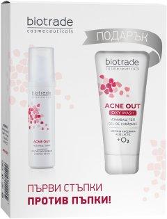 Набор для лица Biotrade Acne Out для жирной и проблемной кожи Тоник 60 мл + Гель для умывания 50 мл (3800221841522)