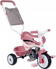Детский велосипед 3 в 1 Smoby Toys Би Муви Комфорт металлический Розовый 68х52х101 см (740415) (3032167404152)