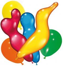 Набор Воздушные шарики Susy Card Фигурные ассорти 150 шт (40011219)