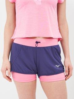 Спортивные шорты Mizuno MUJIN 4.5 2in1 SHORT J2GB928312 XS Синие (5054698686218)