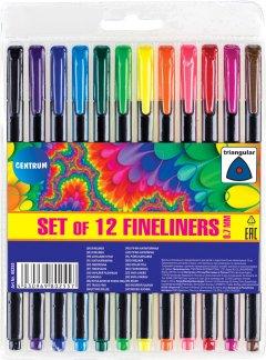 Набор лайнеров Centrum Fineliners 0.7 мм 12 цветов (4030969802557)