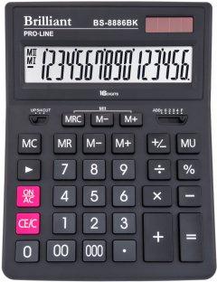 Калькулятор Brilliant Электронный 16 разрядный (BS-8886BK)