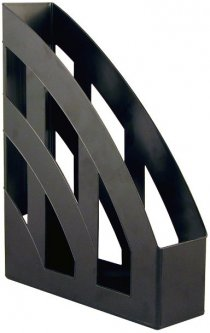 Лоток для бумаг КиП Пластиковый Вертикальный 315 х 246 х 75 мм Черный (ЛВ-01черн.)