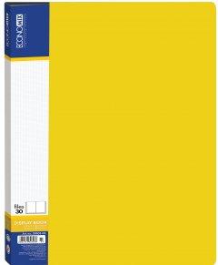 Папка пластиковая Economix А4 30 файлов Желтая (30603-05)