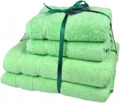 Набор махровых полотенец SoundSleep Homely Mint мятный 50х100 - 2 шт, 70х140 - 2 шт (93392648)