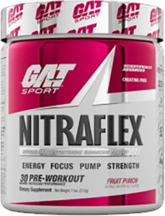 Предтренировочный комплекс GAT sport Nitraflex 300 г Фруктовый пунш (859613648907)