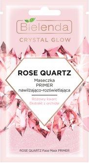 Маска для лица Bielenda Crystal Glow Розовый кварц Увлажнение Праймер под макияж 8 г (5902169042349)