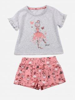 Комплект (футболка + шорты) Фламинго 743-420 98 см Меланж (4829960119791)