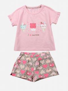 Комплект (футболка + шорты) Фламинго 743-420 92 см Розовый (4829960119746)