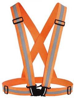 Светоотражающий пояс-жилет UFT для велосипедистов waistcoat Orange (UFTrefcoatOrange)