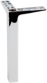 Ножка мебельная Ferro Fiori M 12010 200 мм угловая 90 х 90, нагрузка 200 кг Хром (VR51256)