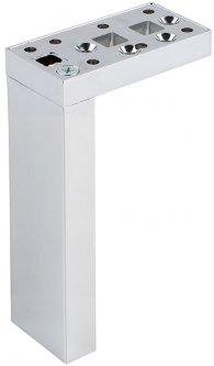 Ножка мебельная Ferro Fiori M 12000 200 мм с площадкой 50 х 90, нагрузка 200 кг Хром (VR51254)