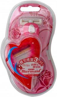 Станок для бритья Feather Mermaid + 1 запасная кассета (4902470443300)