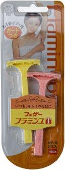 Набор станков для бритья Feather Flamingo-T Одноразовых 2 шт (4902470160009)