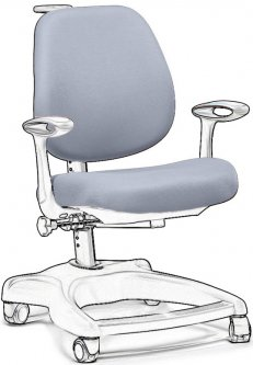 Чехол для кресла FunDesk Delizia Chair cover Grey