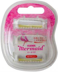 Кассеты для бритвы Feather Mermaid 3 шт (4902470253206)
