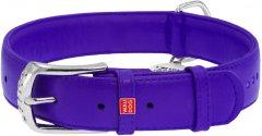 Ошейник для собак кожаный Collar WAUDOG Glamour с QR паспортом, двойной со стразами, XS, Ш 15 мм, Дл 27-36 см (38749)