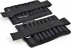 Утяжелители Onhillsport CROSS регулируемые универсальные 10 кг (груз 1 кг) Черные (МТ-1011)