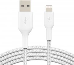Кабель Belkin USB-A - Lightning Braided 0.15 м White (CAA002BT0MWH)