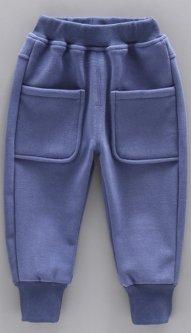 Дитячі спортивні штани з кишенями на резинці Колір синій 100см