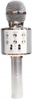 Bluetooth-микрофон для караоке ITrendy с подсветкой Серебристый (UFTMK2LSilver) (4820176253941)