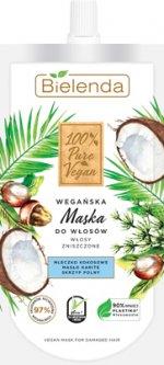 Маска для волос Bielenda 100% Pure Vegan для поврежденных и сухих волос 125 мл (5902169039394)
