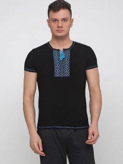 Вышиванка Malta 19М299-24-В Голубая вышивка 56 Черная (2901000209821_mlt)