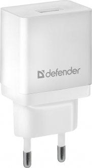 Сетевое зарядное устройство Defender EPA-10 1хUSB 5V/2.1А White (83549)