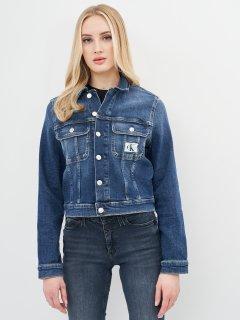 Джинсовая куртка Calvin Klein Jeans Cropped 90'S Denim Jacket J20J215381-1BJ XS Denim Dark (8719853611173)