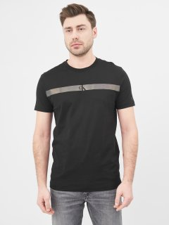 Футболка Calvin Klein Jeans Horizontal Ck Panel Tee J30J317165-BEH L Black (8719853726358)