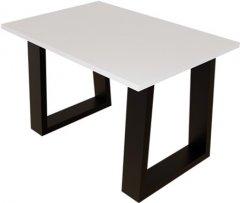 Журнальный столик DC Rod 660х440х16 мм Белый 2 ноги черные квадрат (DC121386)