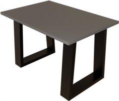 Журнальный столик DC Rod 660х440х16 мм Графит 2 ноги черные квадрат (DC121389)