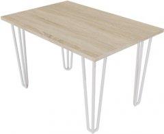 Журнальный столик DC Zac 660х440х16 мм Дуб сонома 4 ноги белые прутовые (DC121385)