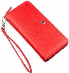 Женский кошелек кожаный ST Leather Accessories 18931 Красный