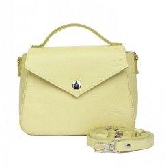 Женская кожаная сумка The Wings Lili лимонная флотар TW-LILY-LIGHT-YELL-FLO