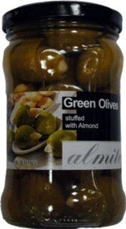 Оливки королевские зеленые Almito фаршированные чесноком 270 г (5200311700117)